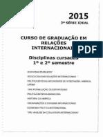 Planos de Ensino 3 o Ano - 2015