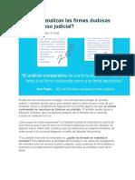 Cómo Se Analizan Las Firmas Dudosas en Un Proceso Judicial