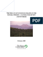 Grazing Impacts in the Sonoran Desert