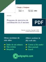 Programa de Ejerciicos de Coord en El Anciano