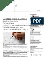 Questões de Prova_ Estatuto Dos Servidores de Pernambuco _ Blog Do Concurso TJPE