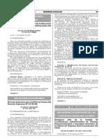 Decreto Supremo que modifica el Anexo del Decreto Supremo N° 23-95-RE