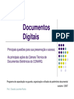 Documentos Digitais Monumenta 2007
