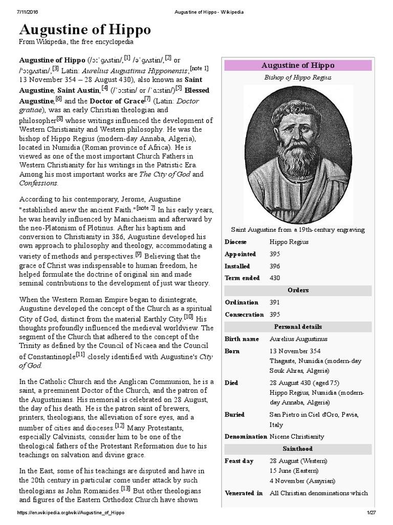 Augustine Of Hippo Wikipedia Original Sin Nero 3
