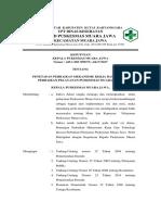 SK penetapan Perbaikan Mekanisme Kerja Dan Inovasi Perbaikan Pelayanan Puskesmas Muara Jawa