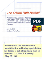The Critical Path Method (Antonio Prensa Pmp, Mba 2002) Diapositivas - Puerto Rico