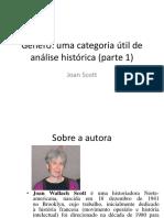 Slide Texto 1 - SCOTT, Joan. Gênero - Uma Categoria Útil de Análise Histórica (Parte 1)