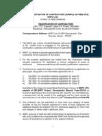 Subansiri Lower Registration of Contractors
