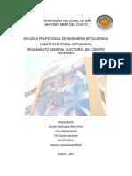 Reglamento General de Elecciones Cc.ff.-Epim