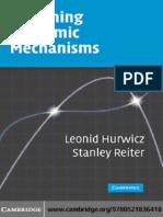 Leonid Hurwicz, Stanley Reiter Designing Economic Mechanisms