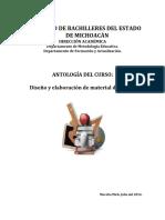 Antologia Del Curso Diseno y Elaboracion de Material Didactico