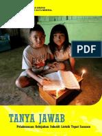 Buku Tanya Jawab Pelaksanaan Kebijakan Subsidi Listrik Tepat Sasaran (FAQ Umum)