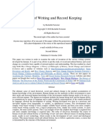 History of Writing and Record Keeping