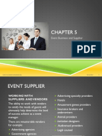 Chapter 5 Event Business and Supplier