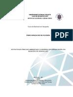 AS POLÍTICAS PÚBLICAS AMBIENTAIS E A DINÂMICA DO ESPAÇO RURAL NO MUNICÍPIO DE ARARAS (SP)