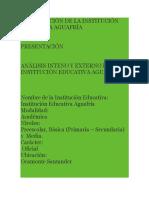 Analisis de Microentrono y Macroentorno de La Institucion
