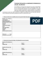 Cuaderno de Cargos Instituciones Postulantes Campenato Integracion Año 2017