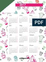 Calendario PDF 2017 Cactus b