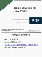 Elaboración del ESFA bajo NIIF para PYMES