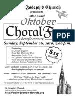 2010 Choral Fest Flyer