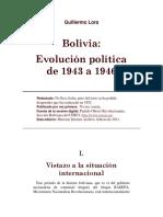 Guillermo Lora - Bolivia Evolución Política 1943-1946