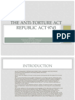 The Anti-Torture Act Republic Act 9745