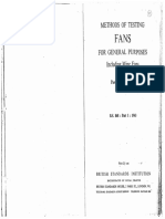 BS 848 - Part I- 1963 - Methods of Testing Fans for General Purposes Including Mine Fans