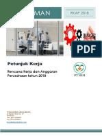 Pedoman & Petunjuk Kerja RKAP 2018