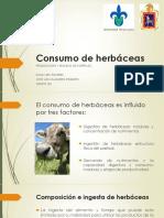 FORRAJES Consumo de Herbaceas.
