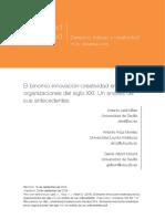 El Binomio Innovacion-creatividad en Las Organizaciones Del Siglo XXI. Un Analisis de Sus Antecedentes