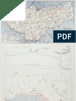 Belle Ile France Map (1944)