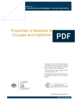 Properties of Selected Soils in the Douglas and Katherine Regions