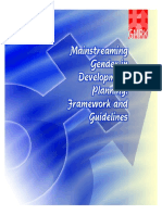 Gmrk Mainstreaming Gender Development Planning