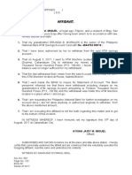 affidavit of lost ATM