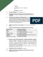 Equality Impact Assessment SOP's Coagulation