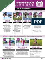 30 Day Challenge Bikini Body Week 4