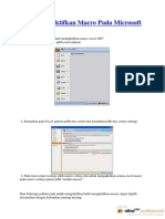 Cara Mengaktifkan Macro Pada Microsoft Excel 2007