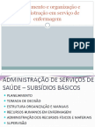 Planejamento e Organização e Administração Em Serviço de Enf