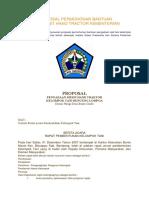 Contoh Proposal Permohonan Bantuan Pengadaan Unit Hand Tractor Kementerian Perta