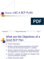 Auditing a Bcp Plan
