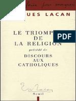 Lacan - Le Triomphe de La Religion