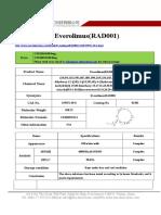 Datasheet of Everolimus(RAD001) CAS 159351-69-6 sun-shinechem.com