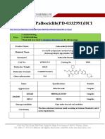 Datasheet of Palbociclib(PD-0332991)HCl|CAS 827022-32-2|sun-shinechem.com