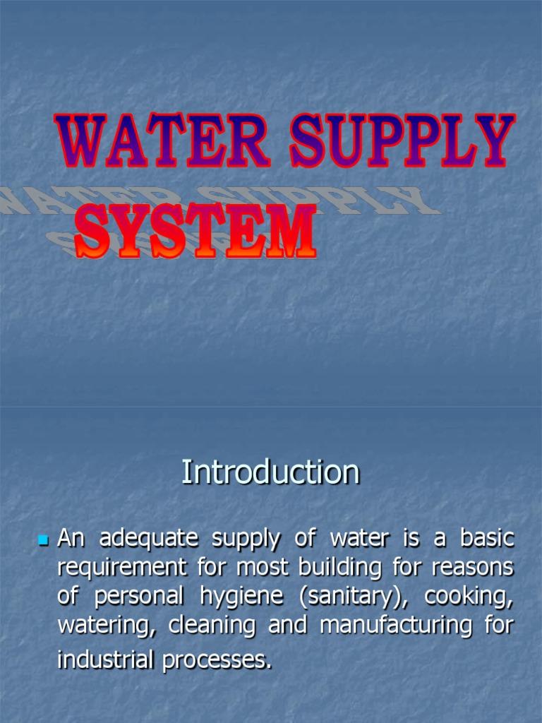 WATER SUPPLY & SANITARY.ppt | Sanitary Sewer | Sink