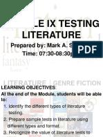 Testing Literature (1)