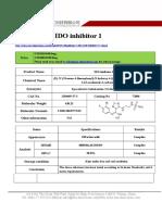 Datasheet of IDO Inhibitor 1|CAS 1204669-37-3|sun-shinechem.com