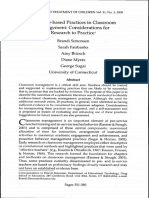 Evidence-based Practices in Classroom de Conspectat