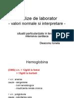 Analize de Laborator Valori Normale Si Interpretare