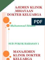 19 Manajemen Klinik Dan Pembiayaan Dokter Keluarga