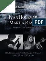 Marija Rasic - Ivan Hocevar Classical Guitar Concert 2017